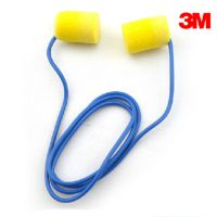 3M 311-1101防噪音耳塞 PVC海绵带线耳塞 防水阻燃隔音耳塞