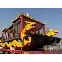 湖北画舫船哪里有 兴化楚风定制出售 双龙画舫 特色餐饮船 水上观光旅游船