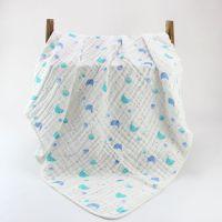 6层精梳水洗褶皱浴巾