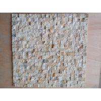 河南黄色洞石石材马赛克现代中式简约室内电视瓷砖背景墙 客厅沙发 3D影视墙