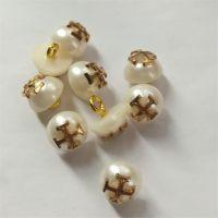 金属十字半球珍珠扣金属脚纽扣