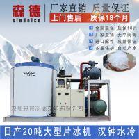 森德制冰 日产20吨工业片冰机 大型水冷片冰机 食品加工保鲜制冰机