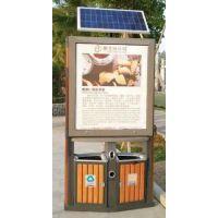 恒远户外广告垃圾箱 HY-LJX-163 型材广告果皮箱,双桶