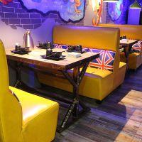 美式实木餐桌椅组合北欧餐厅家具松木饭桌批发酒店饭店奶茶店复古桌子