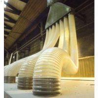 德州雨泽厂家定做工业吸尘通风软管粉尘车间木工除尘管PU镀铜钢丝管