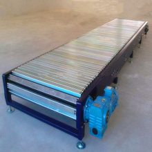 都用-山东爬坡型链板输送机 空调内机装卸链板机