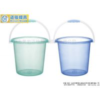 塑料清洁桶模具 日用品清洁手提水桶模具加工厂家 台州黄岩模具制造