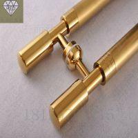 现代玫瑰金大门拉手不锈钢豪华玻璃门红古铜拉手欧式木门把手定制