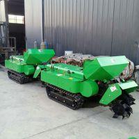 坦克履带式大棚旋耕设备 自走式开沟除草机 开沟机