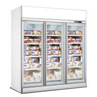飞尼特FC-DD188三门饮料柜冷藏展示柜超市冷柜厂家直全国联保