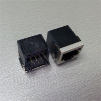 rj45水晶头母座【90度半包rj45网络接口】8P8C路由器接口/千兆光纤猫接口