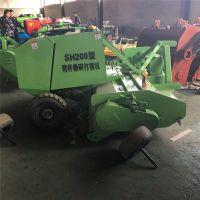 小麦秸秆牧草稻草玉米秸秆捡拾切碎粉碎打捆机