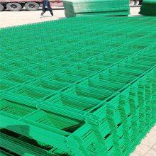 桃型柱高强度护栏 折弯厂区隔离 焊接浸塑围网