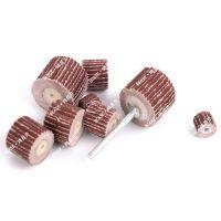 加工定做电磨头活柄叶轮 砂纸打磨头 抛光轮 杆3MM