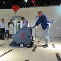 上海洗地机_工厂车间地面清洗机_高美GM50B手推式洗地机