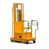 专业定制yokli优客力FT200二级门架半电动仓库取货车,用于仓库取货
