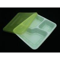 HXY-09 一次性 三格 PP餐盒 外卖 微波餐盒 打包 多格分餐饭盒