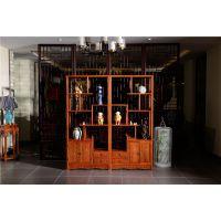 如金红木博古架-古典中式博古架-花梨木家具