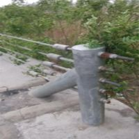 热镀锌钢索绳索护栏@国标缆索柔性防护栏@桥梁两侧用钢丝绳隔离栏