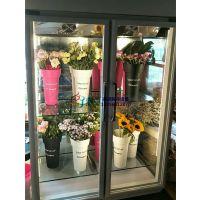 保定两个门鲜花保鲜柜价格,徽点风冷鲜花柜1.5米定制三面中空玻璃