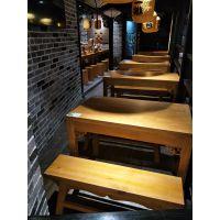天津市实木桌椅定制厂,简约现代快餐店面馆餐桌椅组合