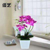 爆款人造植物蝴蝶兰盆景套装假花 仿真花卉永生盆栽摆件一件代发