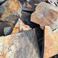 厂家直销 锈板乱型 碎拼石板 不规则绣板 锈色碎拼 园林广场小区铺地 多种规格