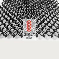 丝美艺XY-F1510金属编织网 黑色金属垂帘网 编织铝丝网