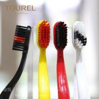 途悦 高品质杜邦丝牙刷 酒店客房宾馆家用一次性牙刷 波浪四色易耗品 高质量