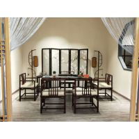 古雨轩禅意新中式茶桌,多功能茶桌茶台,新中式家具私人定制,红木茶桌茶台