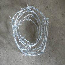 镀锌铁蒺藜 带刺铁线 铁丝刺线网