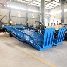 东营工厂定制DCQY-10T移动式登车桥 物流港集装箱装卸货平台