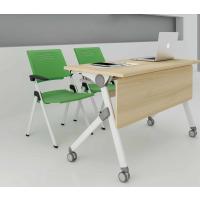 麦德嘉MDJ-JYZ02供应公司会议桌 多功能培训桌 员工开会培训桌 板式侧翻桌子