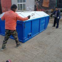 河北绿美厂家直销勾臂式垃圾箱 农村户外可移动垃圾箱