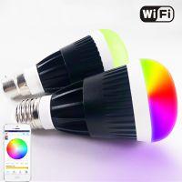 WiFi智能led灯泡家庭智能照明控制系统10W球泡灯苹果安卓手机控制