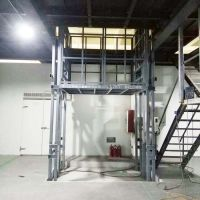 厂家定做3吨导轨式升降机固定式升降梯电动液压台导轨式卸货平台
