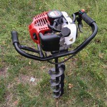 定制直销篱笆栽种打洞机农用汽油挖坑机2.3马力小型便携地钻