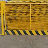 竖杆式基坑护栏-红白相间泥浆池防护网-网片式施工栏杆