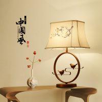 新中式铁艺台灯 客厅书房酒店创意中国风床头柜灯