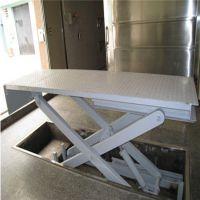 电动液压高空剪叉式升降平台导轨式货梯卸货平台固定式升降机
