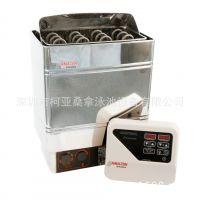 厂家直供 亚美人AMAZON AMC90 经济型 不绣钢外控桑拿炉 桑拿干蒸炉/机