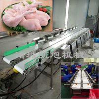 凯旭供应鸡腿六级分拣机 鸡腿按重量自动分级设备