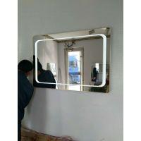 led镜子灯室内酒店现代水晶浴室镜前灯具照明椭圆形镜子灯防雾