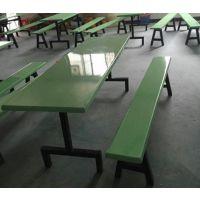 璃钢钢食堂餐桌椅、不锈钢餐桌,连体分体桌椅,长方桌、正方桌、圆桌康腾体育厂价