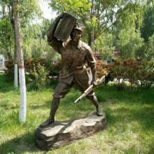 定制游击队新四军烈士铸铜雕像玻璃钢树脂八路军人物抗日战争主题革命战士雕像摆件红军英雄现货