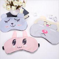 韩版卡通可爱冰敷睡眠遮光冰袋眼罩冰凉纯棉透气护眼罩定制批发