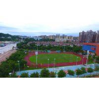 江苏户外足球场12米灯杆 十一人制足球场一拖八锥形灯柱