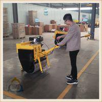 手扶压路机 小型单轮压路机操作方便