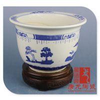 供应唐龙陶瓷 定做景德镇陶瓷花盆 大缸 订制