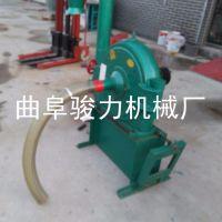 玉米稻壳粉碎机 骏力牌 自吸式饲料粉碎机 订做 齿盘式饲料加工设备